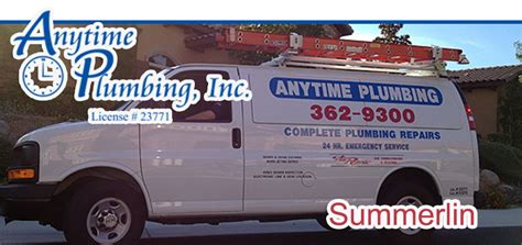 Anytime Plumbing And Heating summerlin plumbing air conditioning heating repair services