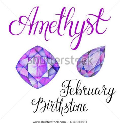birthstone color for february february birthstone amethyst isolated on white background
