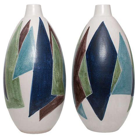 Mid Century Modern Ceramic Ls two swedish mid century modern ceramic vases by mette