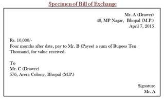 difference between cheque and bill of exchange with