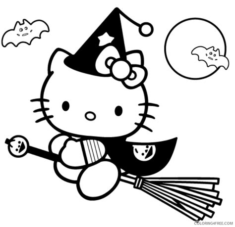 hello kitty kimono coloring page hello kitty coloring pages halloween coloring4free