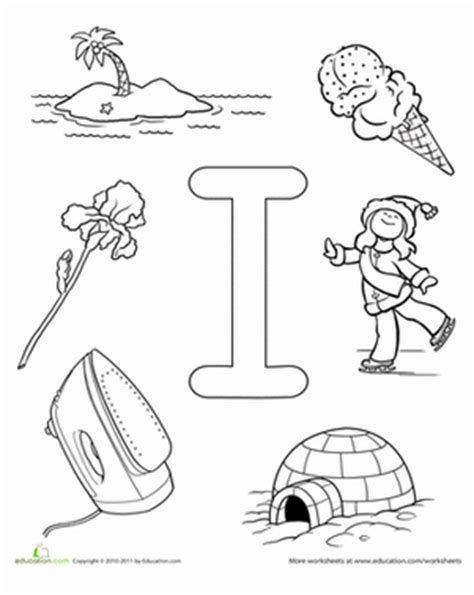 Preschool reading amp writing worksheets i is for