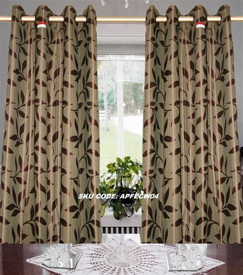 leaf curtains art pack small leaf design window eyelet curtain curtains