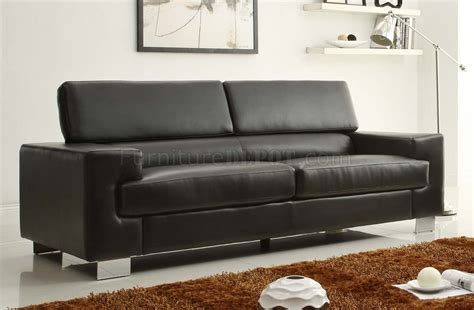 Black Bonded Leather Sofa Vernon Sofa 9603blk In Black Bonded Leather By Homelegance