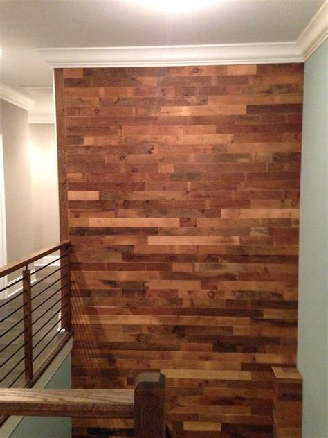 DIY Reclaimed Wood Accent Wall Brown Natural 3.5 Inch Wide