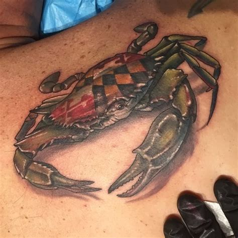 black lotus tattoo gallery maryland awesome maryland blue crab created by halo yelp