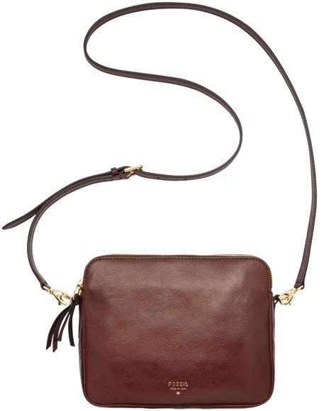 Fossil Crossbody Model 705b fossil sydney leather crossbody in purple lyst