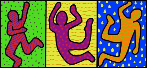 keith haring figure templates image gallery keith haring template