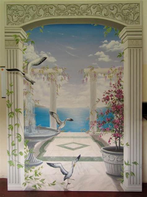 murales da interni decorazione per parete di interni trompe l oeil dipinto a