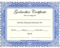 Godparent Certification Letter Free Printable Godmother Certificates