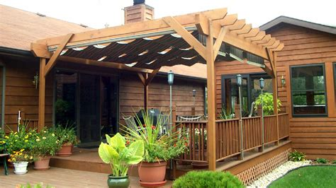 Decor Outdoor Potted Plant Design Ideas With Wooden Diy Pergola Canopy