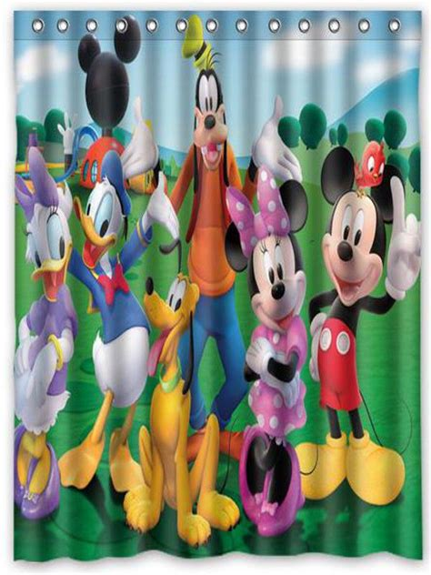 mickey mouse clubhouse shower curtain 1000 ideas about mickey mouse shower curtain on pinterest