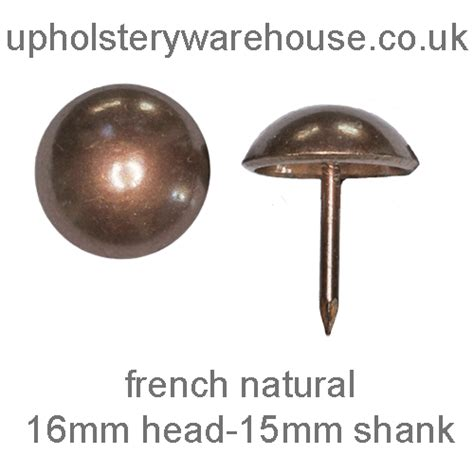 upholstery nail heads upholstery nail 16mm diameter french natural