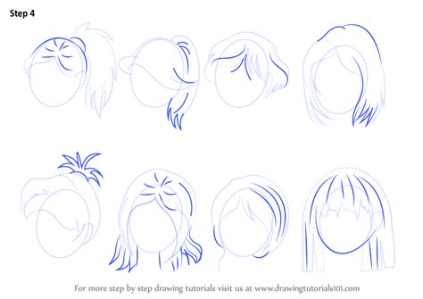 anime hairstyles female tutorial learn how to draw anime hair female hair step by step