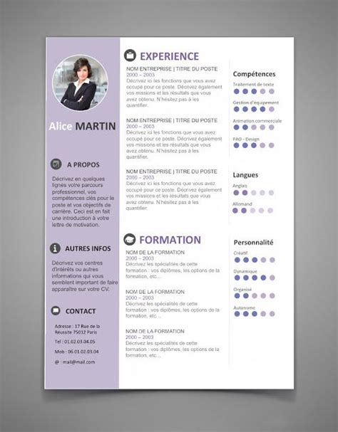 the best cv template best 25 cv template ideas on creative cv