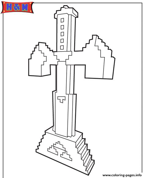 printing in coloring book mode sword in minecraft coloring pages printable