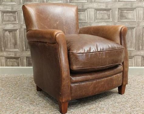 vintage style armchair a vintage style leather armchair brown aged leathervintage industrial retro