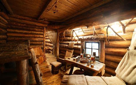 interior  russian wooden sauna stock photo image