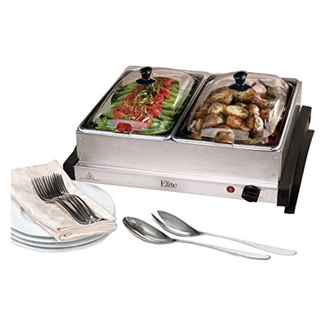Maxi Matic Ewm 6122 Elite Gourmet Double Buffet Server And Buffet Server And Warmer