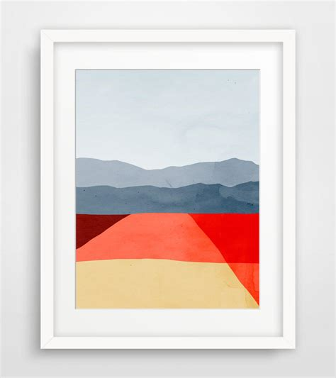 minimalist wall decor abstract landscape wall art print mid from eve sand