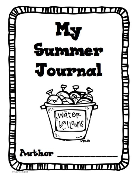 printable writing journal covers theimaginationnook summer journals