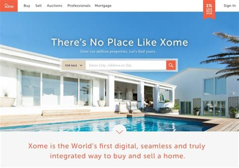 house buying sites xome launches new online home buying site in zillow and