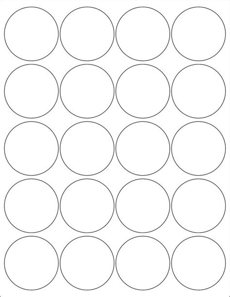 2 inch circle label template 2 inch labels stickers 5 sheets by poofyprints on etsy