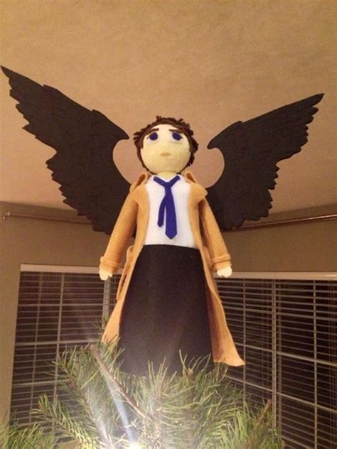castiel tree topper castiel tree topper nadal friki trees castiel and tree toppers