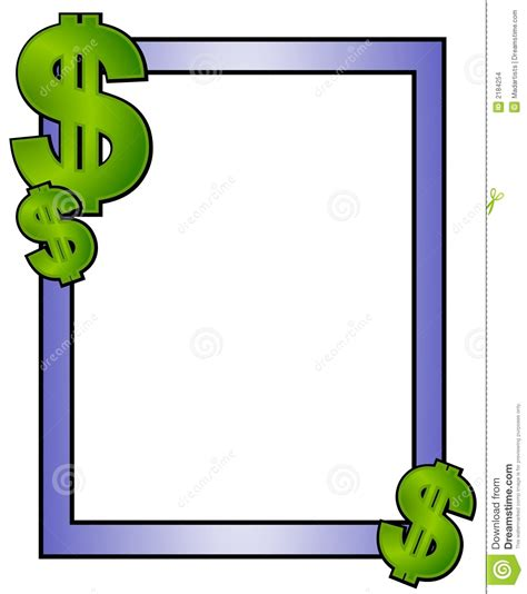 lined paper with money border add text money finances paper stock vector illustration