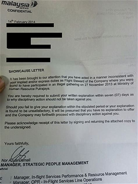 Explanation Letter Malaysia Issues More Show Cause Letters Malaysian Trades Union Congress