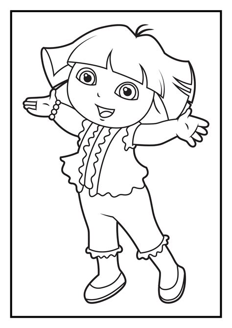 dora and diego coloring page free coloring pages of dora and diego