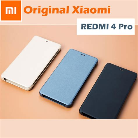 Top Xiaomi Redmi 4 Prime Flip Cover Mi Logo Model O Berkualitas 100 original xiaomi redmi 4 pro smart up flip