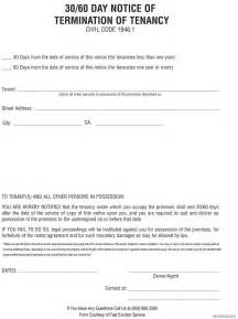 Forfeiture Notice Template by Printable Sle 30 Day Notice To Vacate Template Form