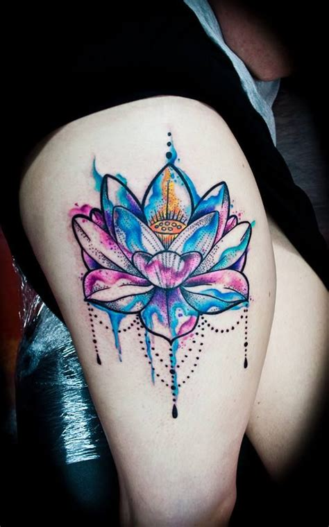 watercolor tattoos hip best 25 watercolor lotus ideas on watercolor