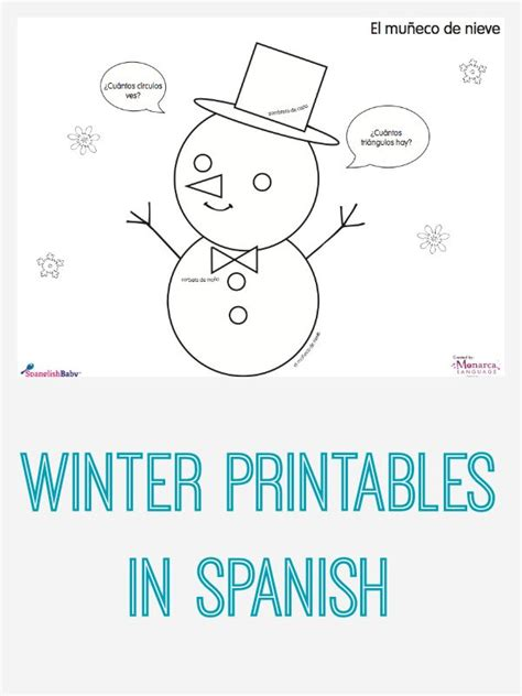 winter activity sheets in spanish printable bilingual