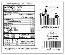 suggestions  barcode variations  labels  side