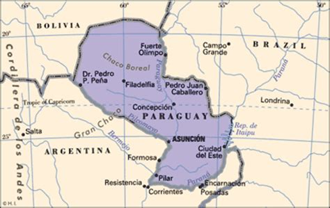 paraguay on the world map paraguay war map toursmaps