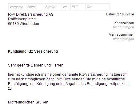 Debeka Motorradversicherung by R Und V Lebensversicherung Kundigen Kfz Versicherung