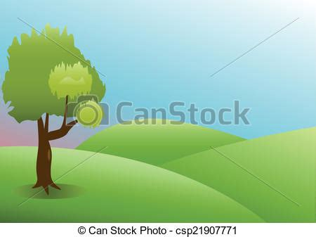 can stock photo clipart vectors illustration of green nature landscape with grass