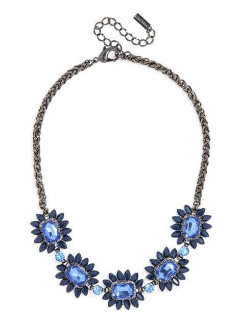 baublebar sapphire bud necklace in blue lyst