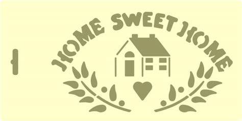 home stencil prv72434 home sweet home 2 59 stencil source stencils and stencil brushes from