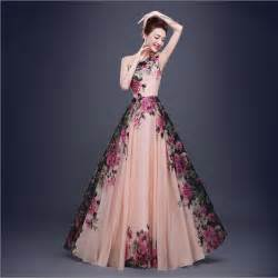 gown designs beautiful designs in stock one shoulder flower pattern floral print chiffon evening gown