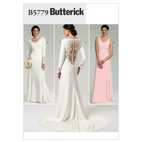 wedding dress pattern uk misses bridal gown butterick pattern 5779 sew essential