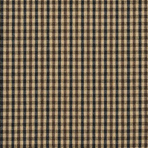 Check Upholstery Fabric E817 Brown And Black Small Scale Check Jacquard Upholstery