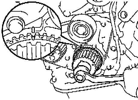 seting timing on timing belt 1999 camry 2.2