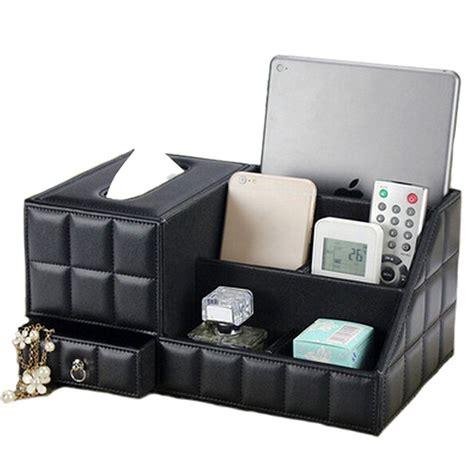 Tissue Box Multipurpose Organizer jhgj leather tv remote holder organizer tissue