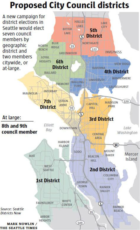 seattle map district is seattle a white city or do we just vote that way