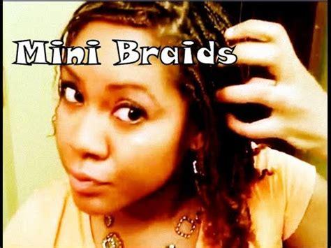michysbraids com mini braids tutorial on natural hair naturally michy