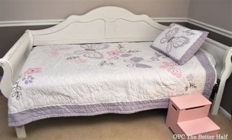 day beds at big lots lucy s new big girl bed annie sloan chalk paint style