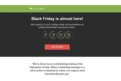 Mailchimp Black Friday Template Motionmail Countdown Timers Integration Mailchimp Integrations Directory